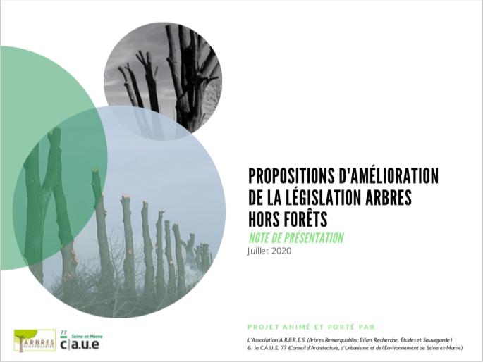 Note presentation Proposition amelioration legislation arbres hors fret