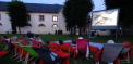 Projection du film en plein air