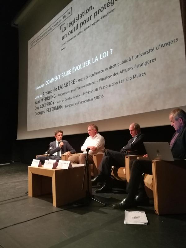 Table ronde : Arnaud de LAJARTRE , Yann WEHRLING ,  Guy GEOFFROY , Georges FETERMAN